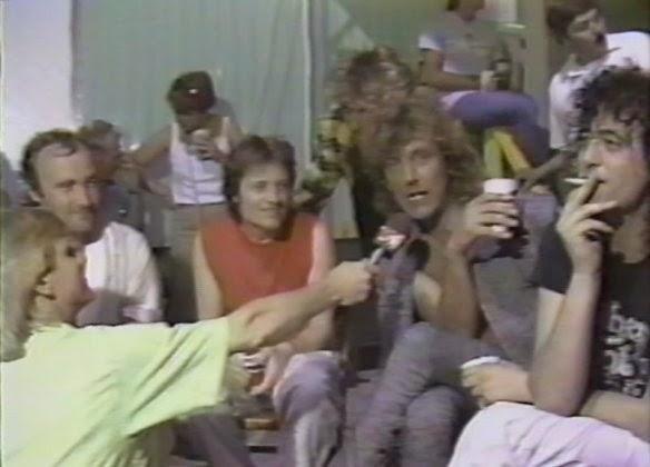 led zeppelin - phil collins - live aid 1985