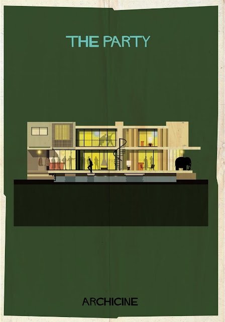 {Art} Architecture in film: Archicine by Frederico Babina | Rue du chat qui peche | The party