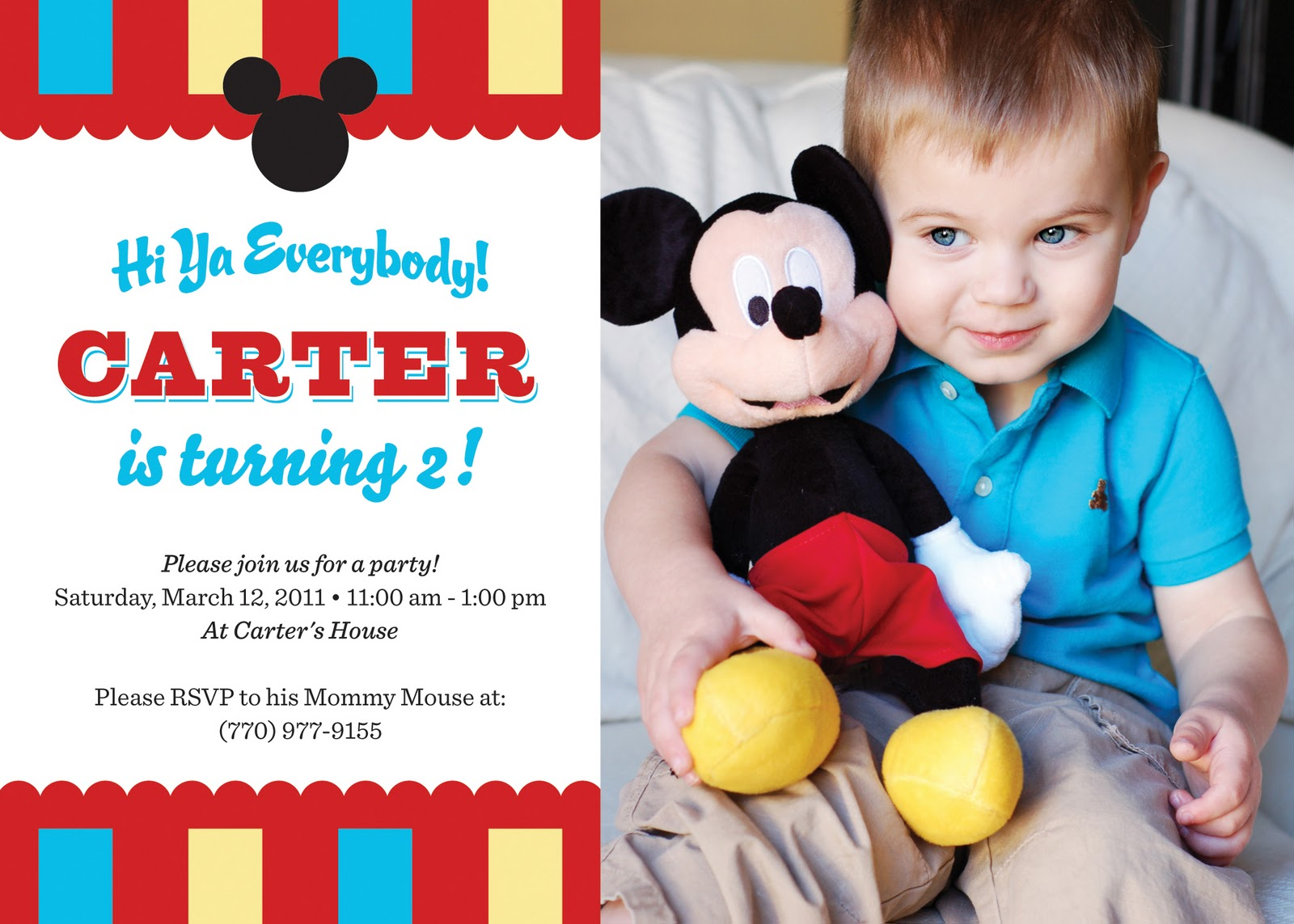 Life With Lulu and JunebugAnd Carter Too Oh Two dles Its – Two Year Old Birthday Party Invitations