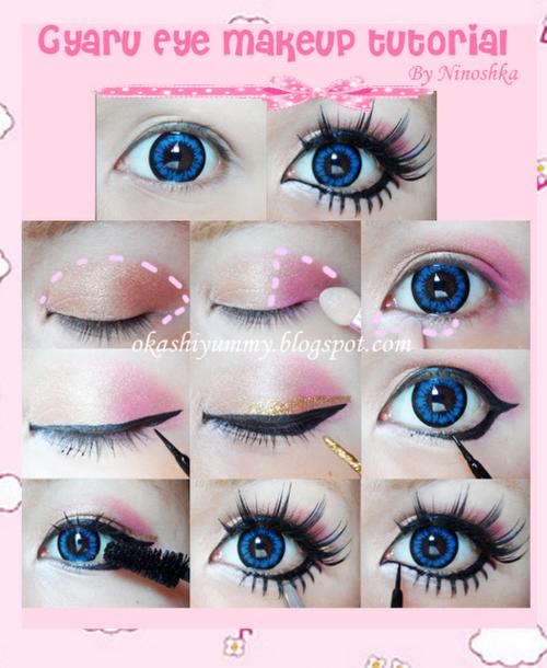 ariska pueu0026#39;s blog: Gyaru Eyes Makeup Part 2