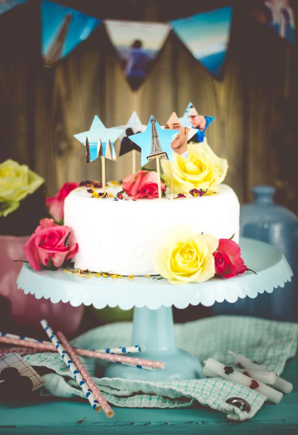 Eine komplette DIY Partydeko zum Geburtstag selbermachen aus Erinnerungs-Fotos