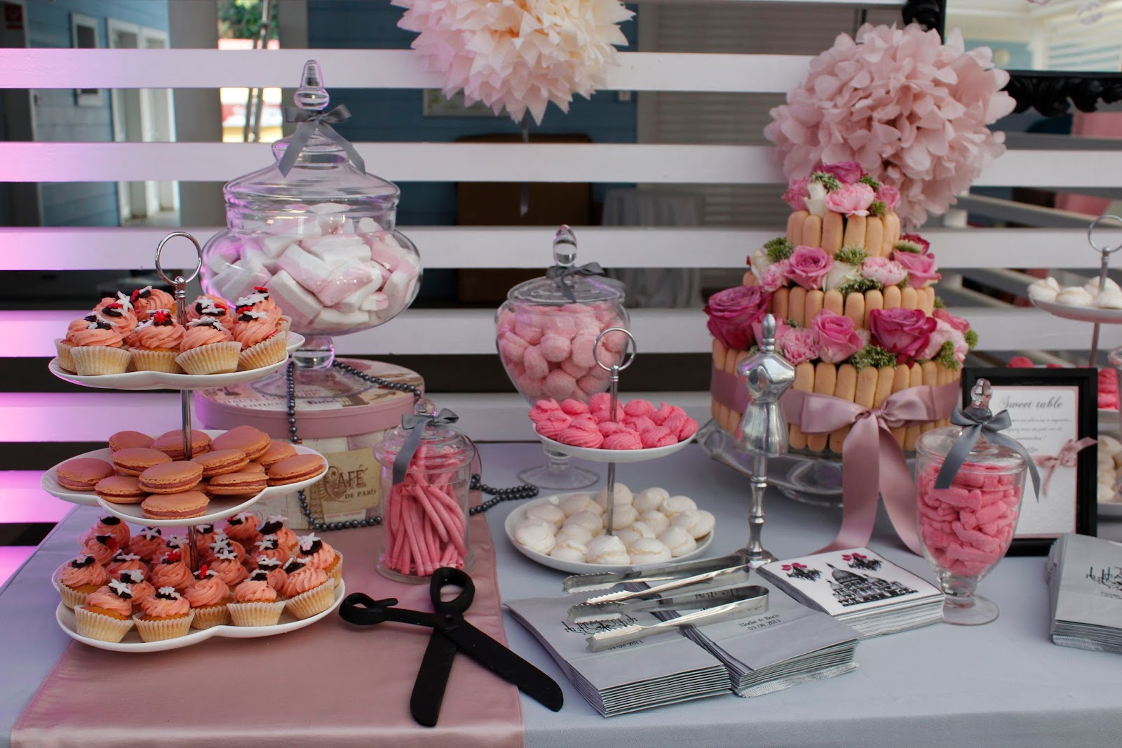 Sweet table mariage rose poudr le candy bar - Deco mariage rose poudre ...