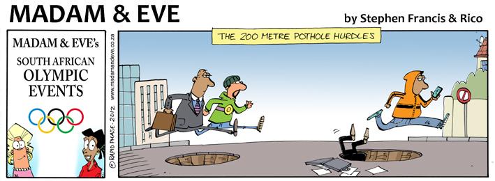 200 Metre Pothole Hurdles