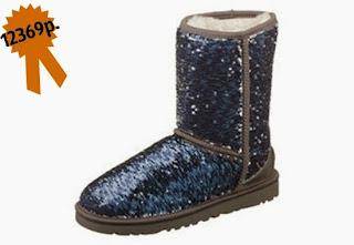 Зимняя обувь, замшевые на овчине UGG Australia с пайетками