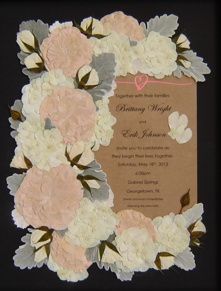 Pressed Garden: Brittany\'s Bridal Bouquet ~*