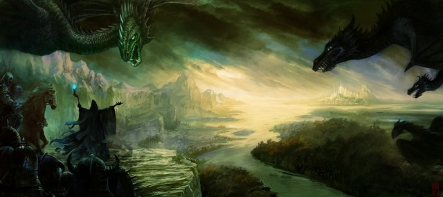 black magic,fantasy dragon,cool scenery