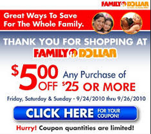 Digital Coupons. Good news! We've made it easier than ever to save more at Family Dollar. No need to print coupons anymore. With our new Smart Coupons, you simply clip, save to your digital wallet and then redeem at the cash register just using your phone number.