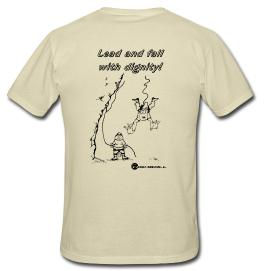 Climbing T-shirt - Lead and Fall with Dignity