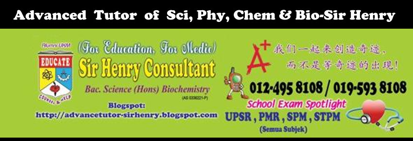 Advanced Tutor of Sci, Phy, Chem & Bio-Sir Henry