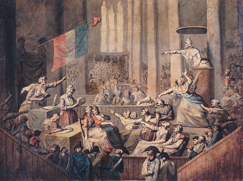 club of patriotic women in a church 1793 the french revolutionary army    Legislative Assembly French Revolution