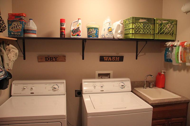 Pallet Laundry Room Shelves