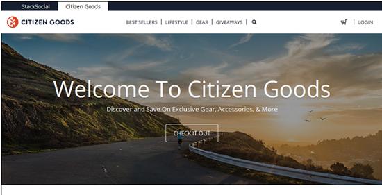 citizengoods.com, website yang sedang naik daun