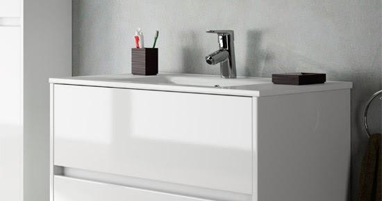Muebles De Baño Noja:mueble+de+baño+noja+suspendido+blanco+brillo+2+cajonesjpg
