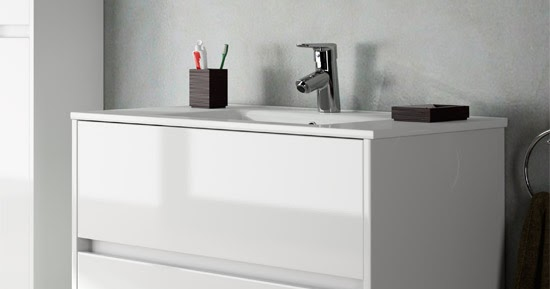 Mueble Baño Noja Gris:mueble+de+baño+noja+suspendido+blanco+brillo+2+cajonesjpg