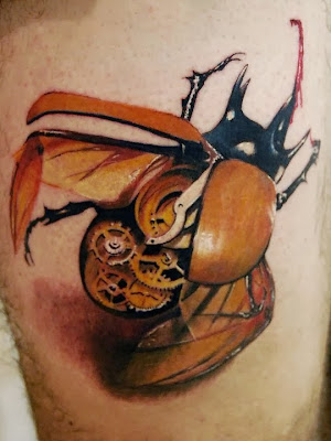 Clockwork Bettle Tattoo