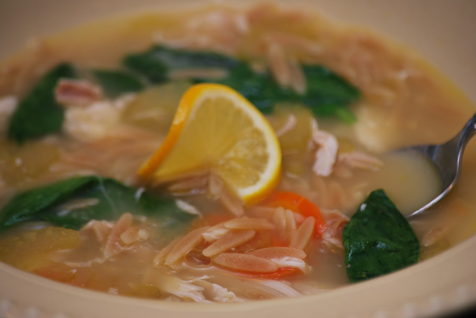 My story in recipes: Lemon Orzo Chicken Soup