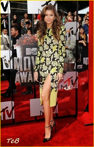 zendaya ungaro dress mtv movie awards