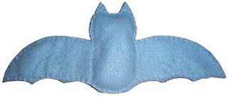 Morcego de feltro - molde