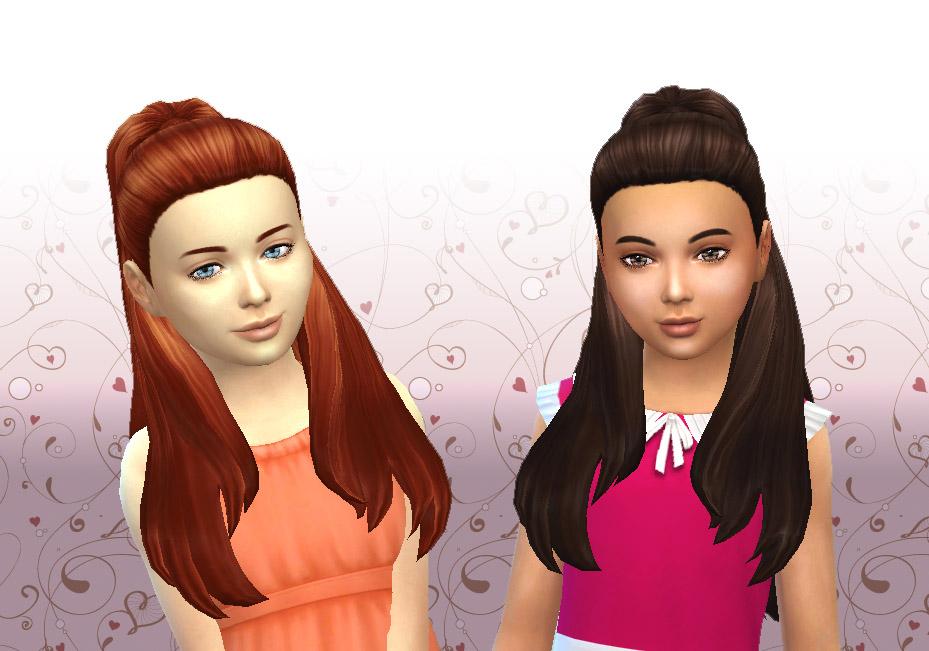 My Sims 4 Blog Ariana Hair For Girls By Kiara24 Mystuff
