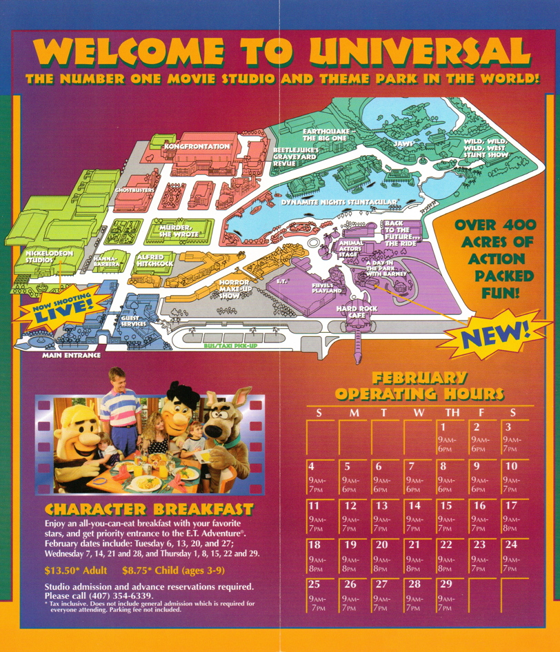 From The Vault Universal Studios Florida 1996 Guide Theme Park