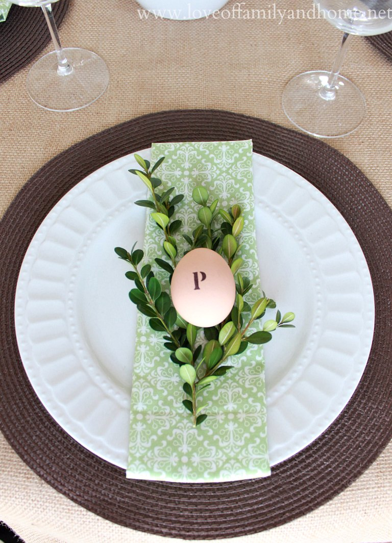 Simple Spring Tablescape Green amp White Love Of Family