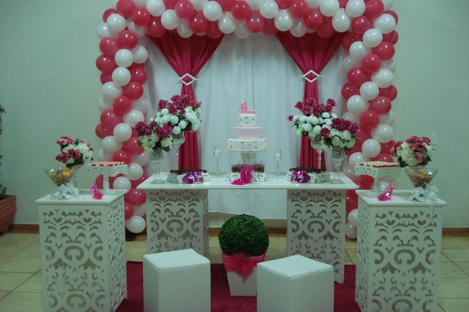 Decoração De Festa De Quinze Anos Com Baloes