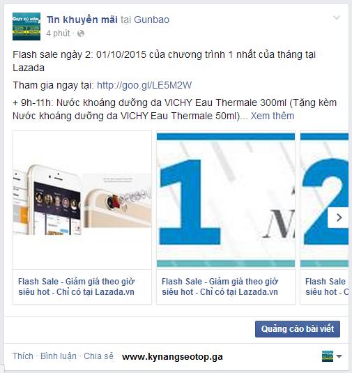 Cách hiển thị link bằng hình ảnh trên facebook
