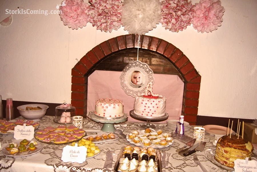 rustic chic baby girl party