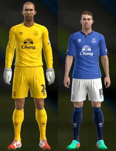PES 2013 Everton 14-15 Kits by Ram'z