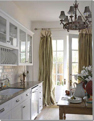 this kitchen also has a unique design element