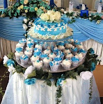 WEDDING CAKE + CUPCAKE TIER