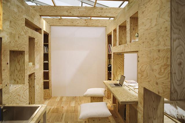 Paredes m viles de madera que albergan muebles en su - Divisiones en madera ...