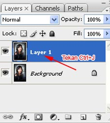 Pada toolbox, klik Edit in Quick Mask Mode dan Erase Tool dan
