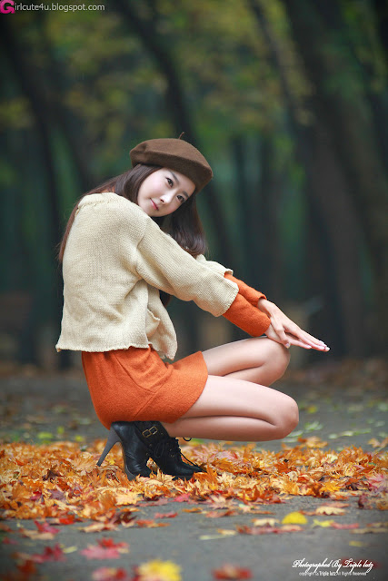 Park-Hyun-Sun-Autumn-Orange-Dress-03-very cute asian girl-girlcute4u.blogspot.com