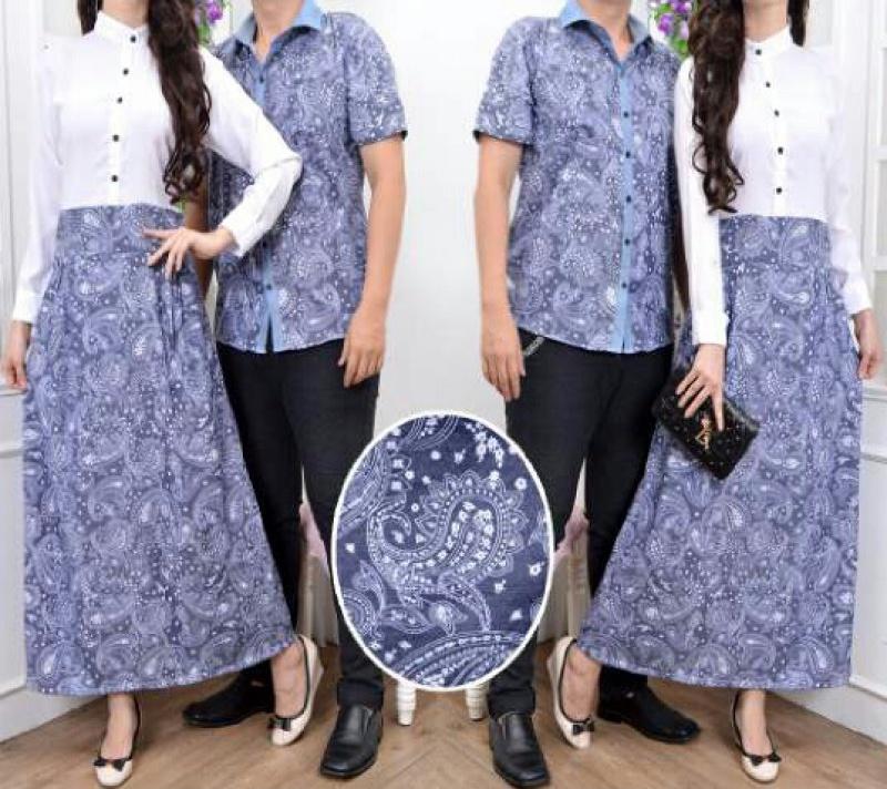 Jual Online Batik Ruby Couple Murah di Jakarta Bahan Rayon Keren