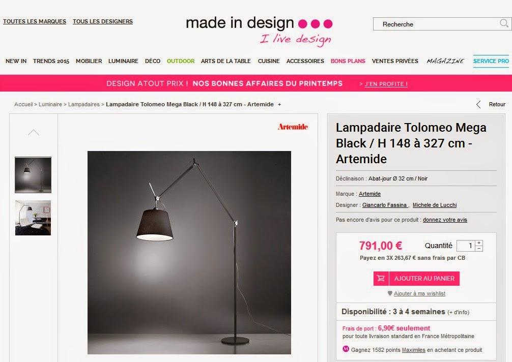 Ventes privees sur internet lampadaire artemide vente - Vente privee site internet ...