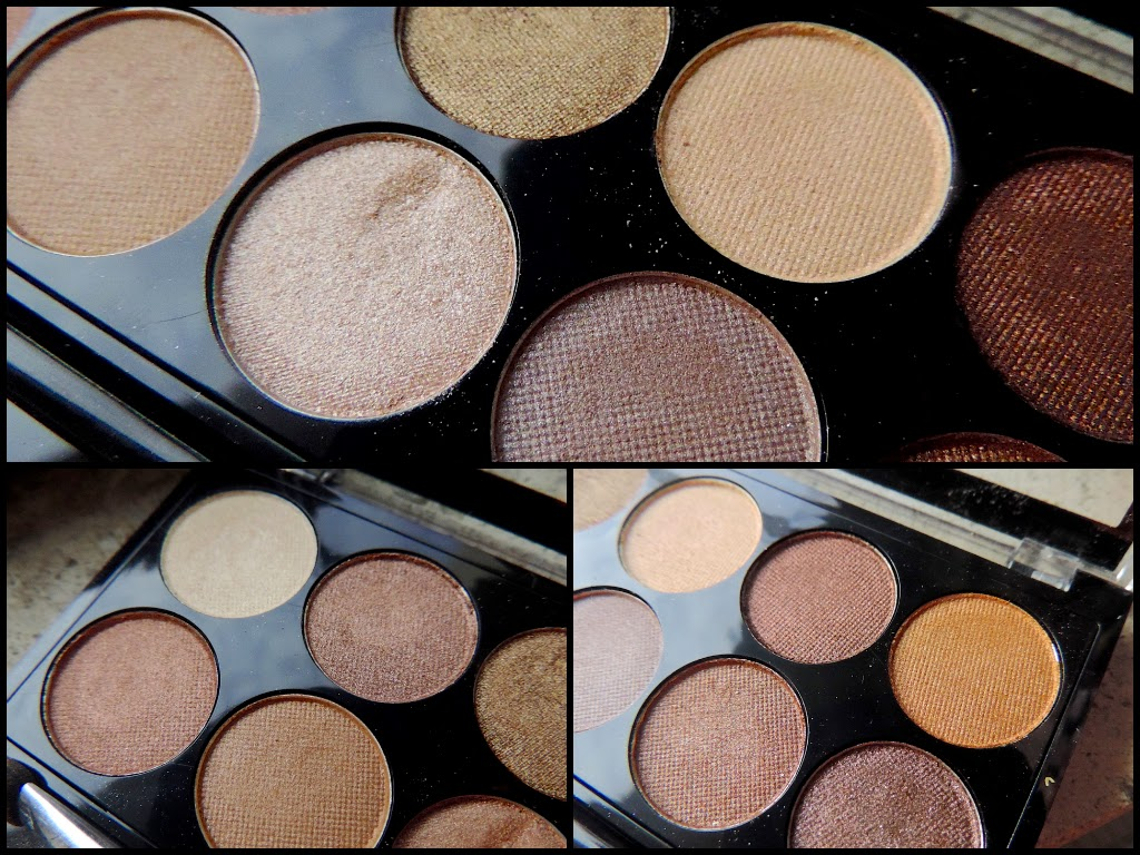 Review of metallic neutral eyeshadows
