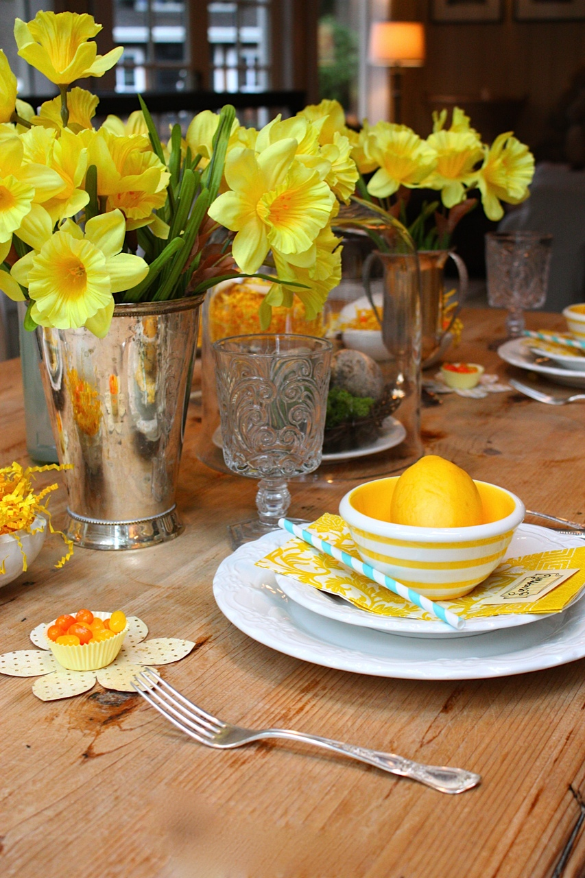 My sweet savannah a spring table setting - Table decorations for spring ...