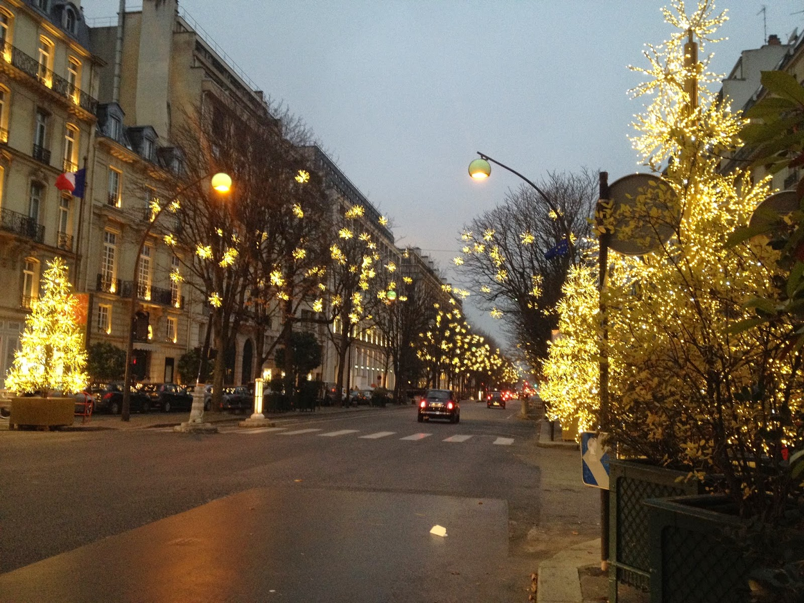 Holiday lights on the Avenue Montaigne, Paris