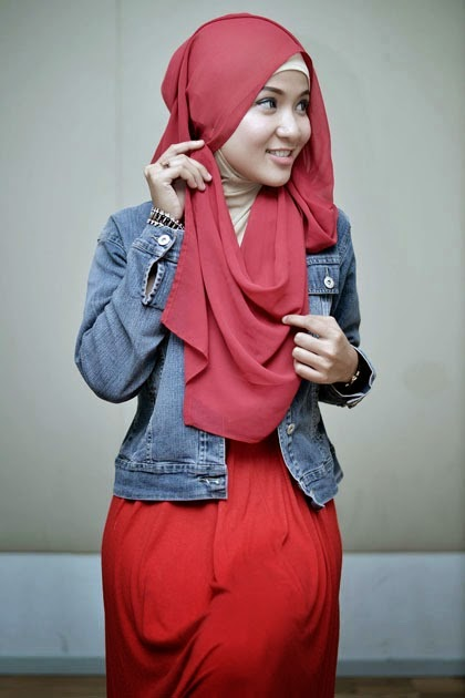 Tutorial Hijab Pashmina Sifon Praktis dan Style Santai 4 2014