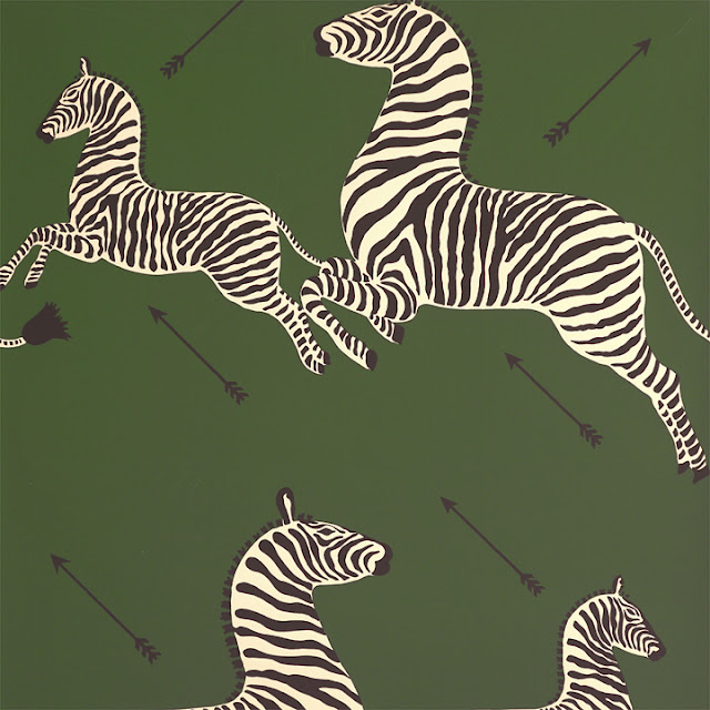 scalamandre zebras forest green