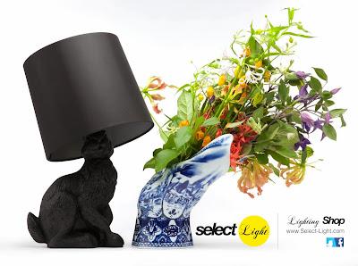 Lámpara de diseño con forma de conejo