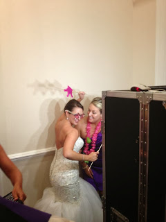 Bride getting down in the photo booth
