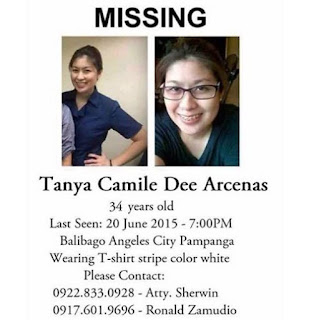 Tania Camille Dee missing person