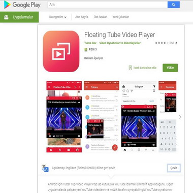 play google com - store - floating tube video player