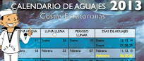 Calendario de aguajes