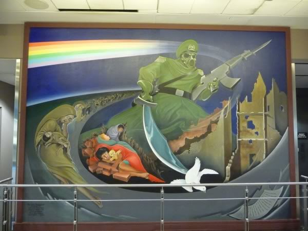 Humanities denver airport conspiracy theory for Denver mural conspiracy