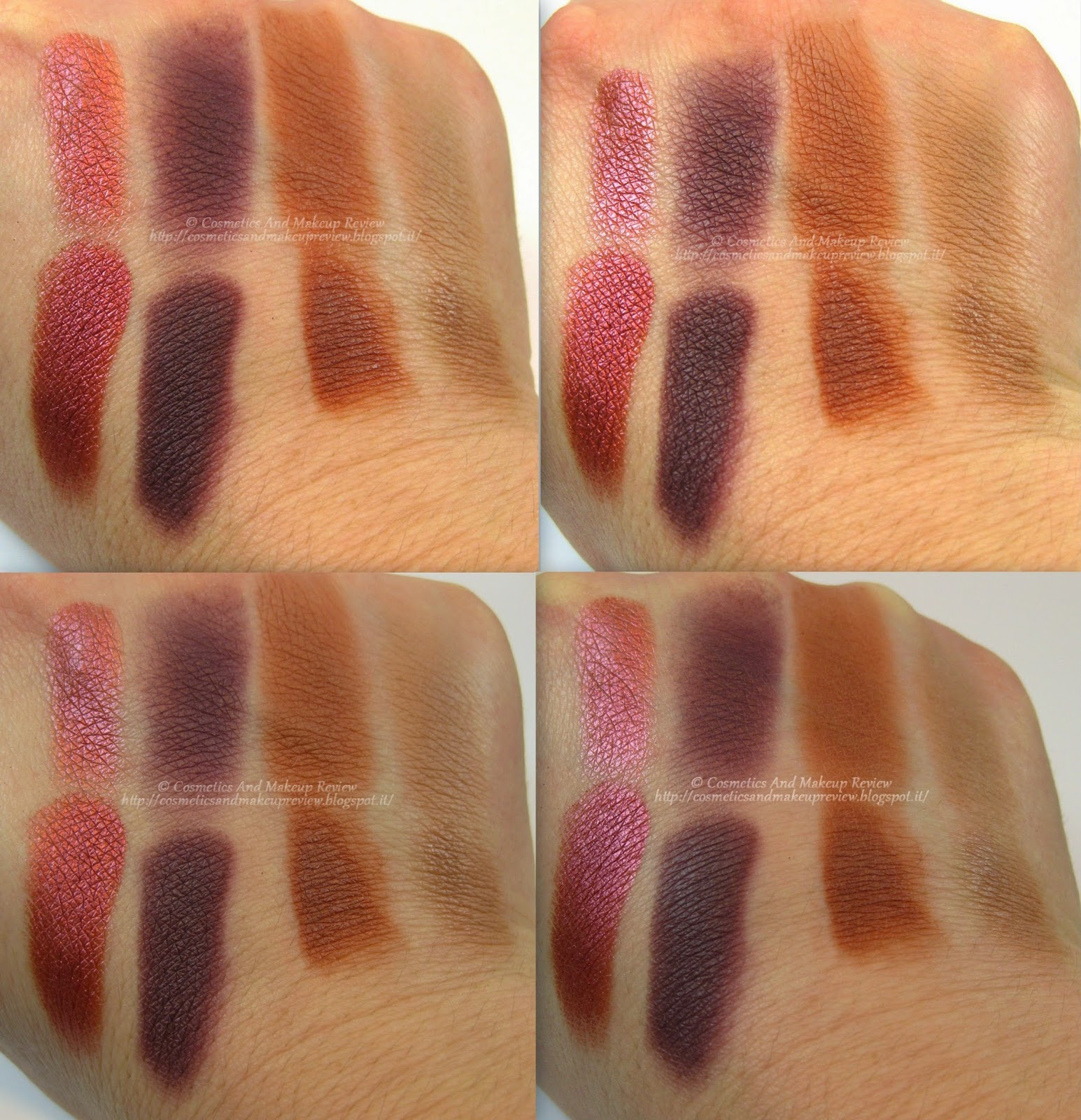Nabla Cosmetics - Genesis Collection - swatches Grenadine - Mimesis - Petra - Narciso