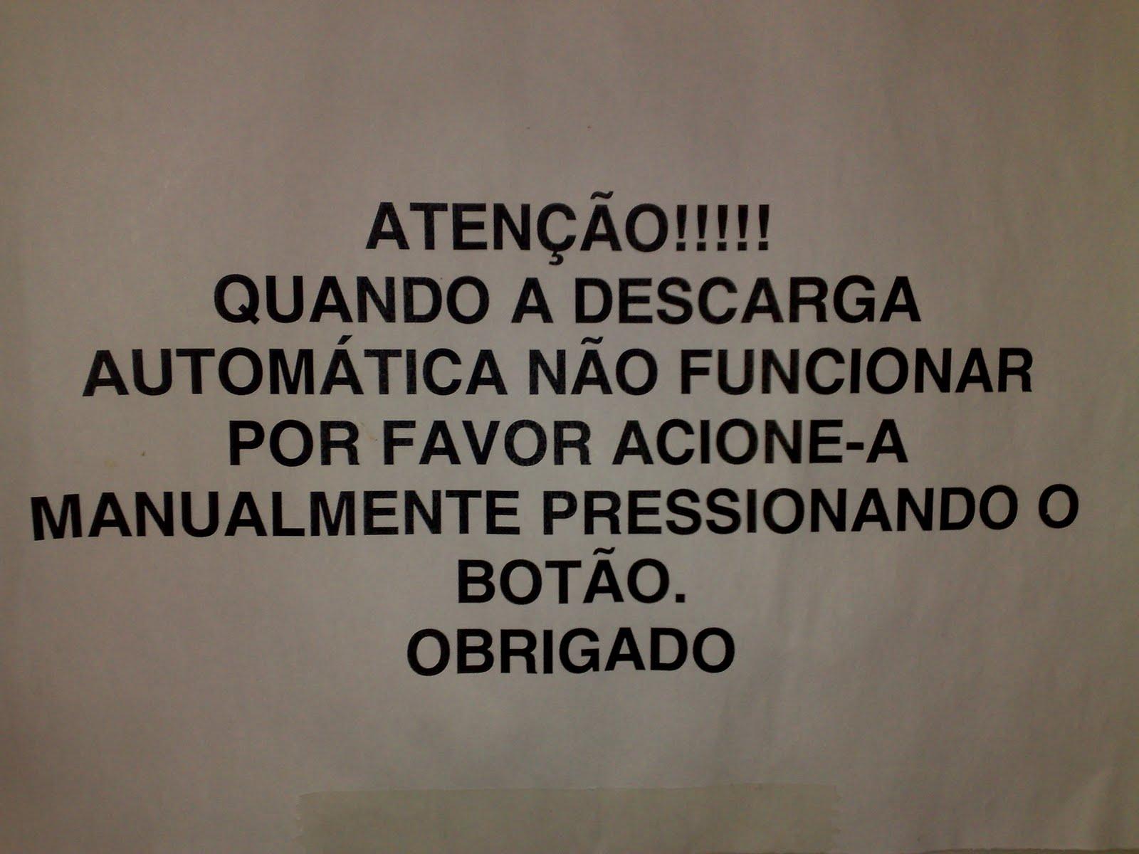 FRASES DE BANHEIRO: Descarga automática Centro 3 Unisinos #6D6151 1600 1200