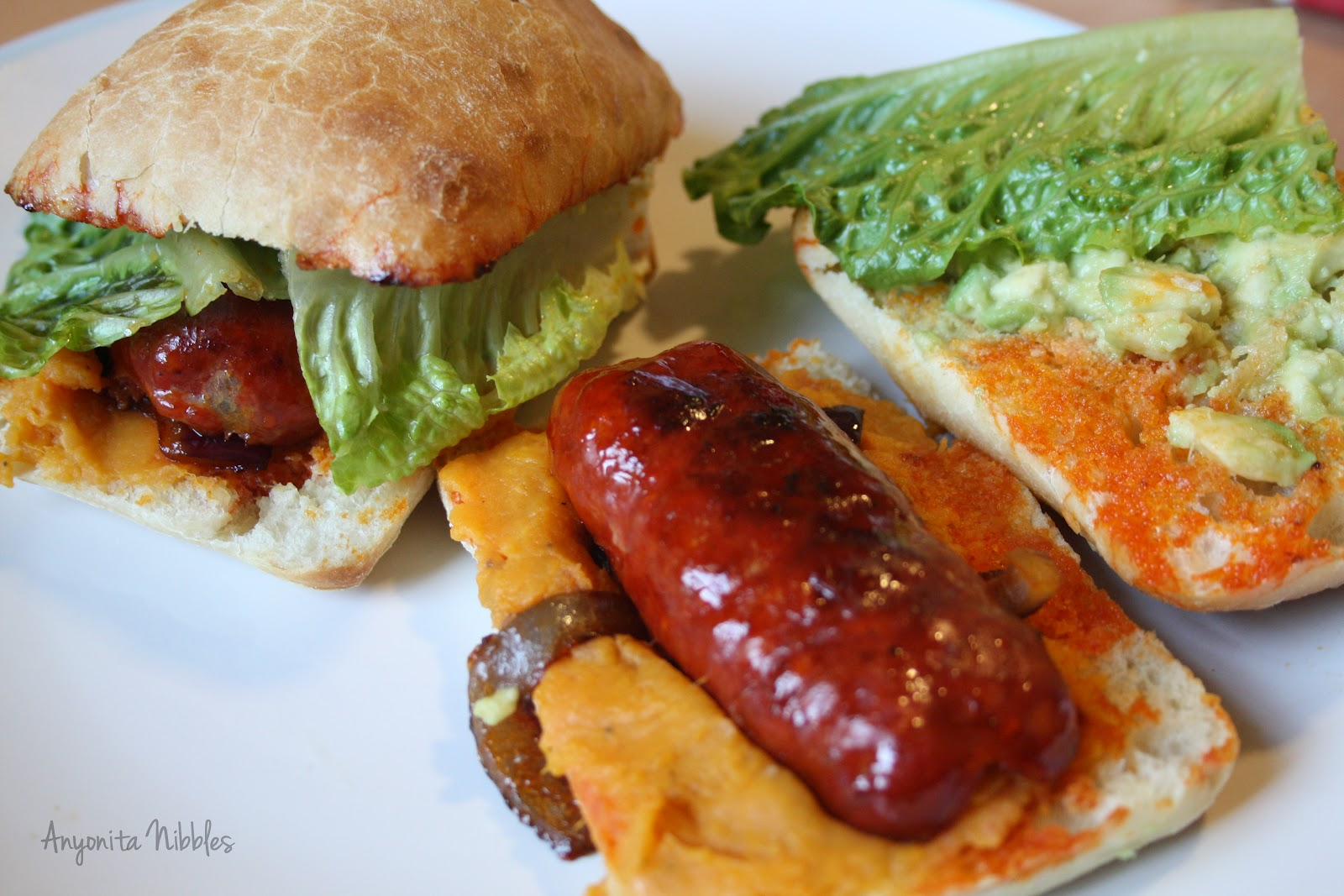 Avocado and Chorizo Torta with Mexican Rice